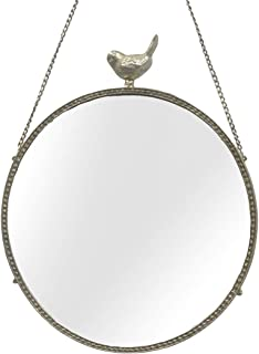Metal Wall Mirror with Bird - Round Wall Mirror - 17