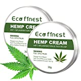 ECO finest Hemp Cream - Face Moisturizer Cream, Organic Hemp Oil Extract Cream 5000mg Mint Flavor Pain Relief for Muscle Joint Sciatica & Back