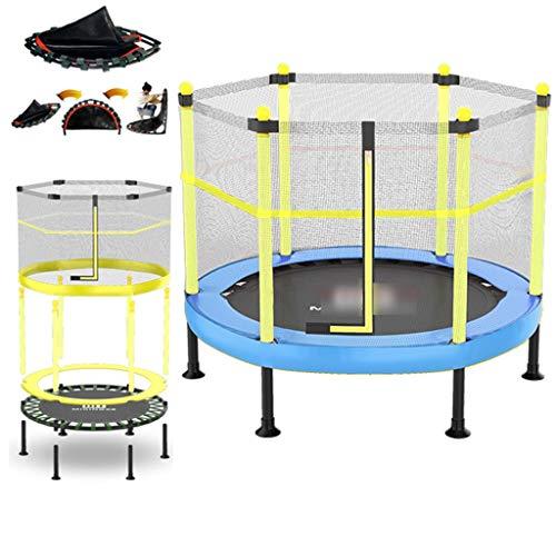 LJMG Indoortrampoline Trampolin Kindertrampolin Mit Sicherheitsnetzsauger Gartentrampolin, Abnehmtrampolin Für Den Haushalt, Eltern-Kind-Aktivitäten-Durchmesser: 40-60in (Color : Blue, Size : 1.2m)