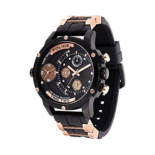Police Herren Multi Zifferblatt Quarz Uhr mit Gummi Armband PL14536JSB.02PA