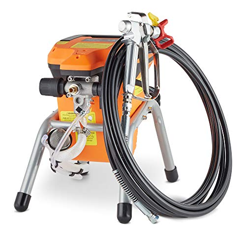 VonHaus Airless Paint Sprayer Kit Spray Gun and Stand Paint Station - 3000 PSI High Efficiency Power with Nozzle Extension, Easy Cleaning Kit, 24ft Hose and Flow Rate 1L/min
