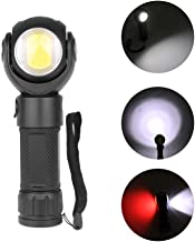 Meiyiu Waterproof 360 Degree Rotatable T6 LED Torch Flashlight with Magnet COB Work Light