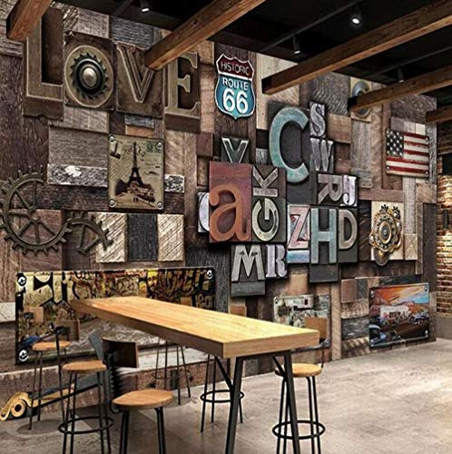 3D Fototapete Industrial Style Love Stereo Letter Wall Professional Production Wallpaper Mural Custom Photo@430 * 300
