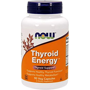 NOW Supplements, Thyroid Energy, Iodine and Tyrosine plus Selenium, Zinc and Copper, 90 Veg Capsules