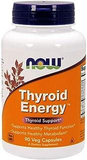 Now Foods Thyroid Energy - Energía tiroidea, sin gluten y soya, 90 cápsulas vegetales