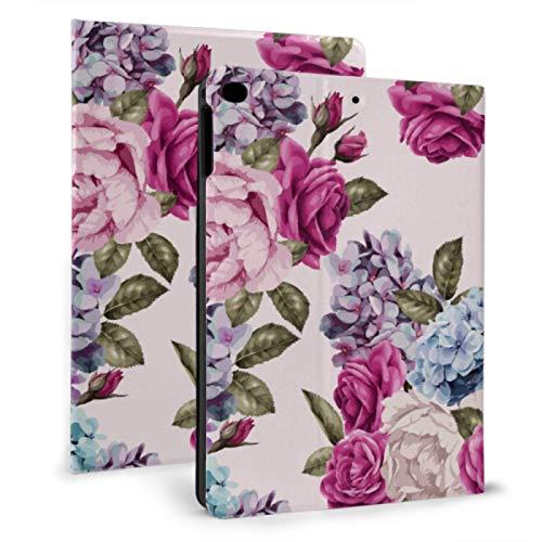 Ipad Back Cover Colorfuly Flowers Shiny Petal Mini Ipad Covers For Ipad Mini 4/mini 5/2018 6th/2017 5th/air/air 2 With Auto Wake/sleep Magnetic Ipad Kids Case