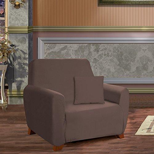Un Confort élégant Mobilier de Luxe Jersey Stretch Slipcover, Microfibre, Chocolat, Chair