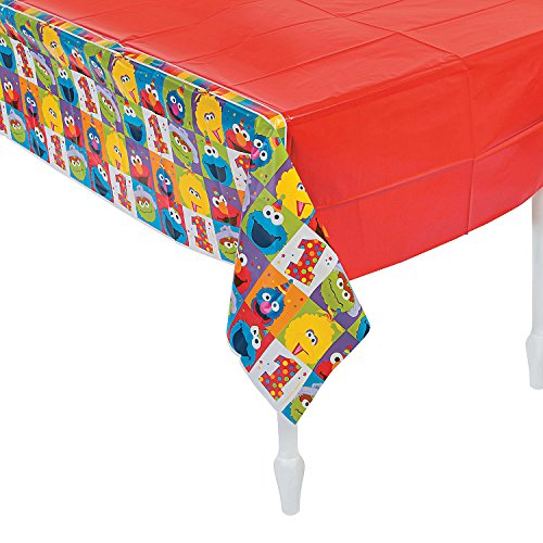 Fun Express - Elmo Turns One Plastic Table Cover for Birthday - Party Supplies - Licensed Tableware - Misc Licensed Tableware - Birthday - 1 Piece