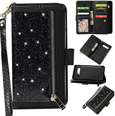 Aweevnye Samsung Galaxy S10 Case Galaxy S10 Wallet Case Multi Function Bling 9 Credit Card Holders product image