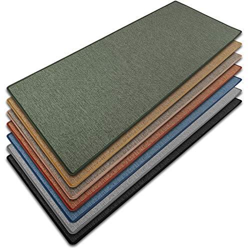 casa pura Teppich Läufer Sabang | Sisaloptik | Qualitätsprodukt aus Deutschland | GUT Siegel | kombinierbar mit Stufenmatten | viele Größen (Grün, 66x100 cm) Küchenläufer Flurläufer Teppichläufer