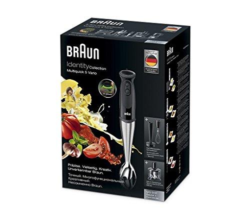 Braun-MultiQuick-5-Vario-MQ-5137-Sauce-Plus-Stabmixer-750-W-Zerkleinerer-500-ml-Kartoffel-und-Gemsestampfer-Edelstahl-Schneebesen-EasyClick-System-PowerBell-Technologie