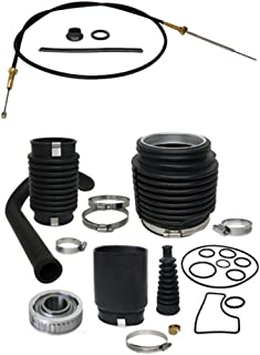 Private Label Mercruiser Bravo Transom Service Kit Gimbal Bearing, Shift Cable, exhaust, U-Joint, shift bellows, replaces 30-803100T1