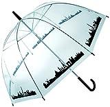 OOTB Dome Umbrella, Skyline Paris Paraguas clásico, 84 cm, Transparente (Transparent)