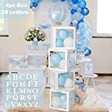 [The package includes] This set of birthday party boxes includes 4 white transparent boxes with A - Z letters. If you need 5 or more boxes, please go to buy in other variations. To decorate your birthday party with these boxes, make it more beautiful...