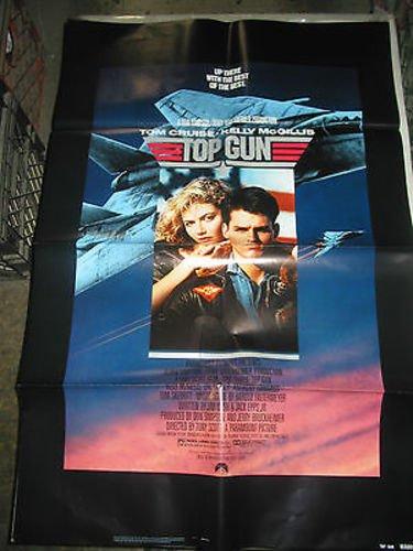 TOP GUN / ORIGINAL US ONE-SHEET MOVIE POSTER (TOM CRUISE)