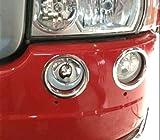4Anillos Decoración Luces Antiniebla delanteras de acero inoxidable para Scania Serie R camiones