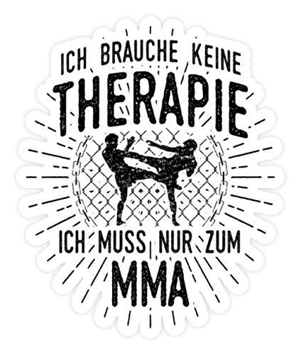 shirt-o-magic Aufkleber MMA-Kämpfer: Therapie? Lieber MMA - Sticker - 10x10cm - Weiß