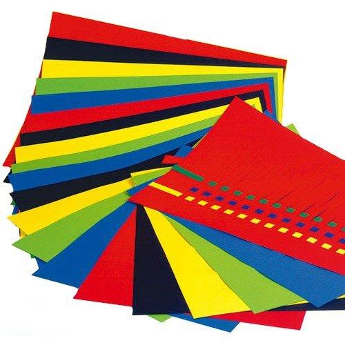 URSUS Riesen Flechtblätter 35x50cm, 15mm, 10 Paar in 5 Farben sortiert