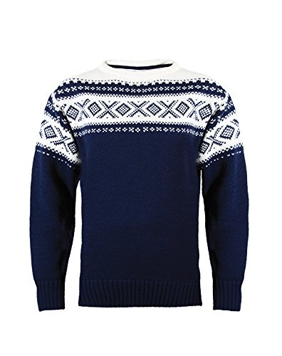 Dale of Norway - 92521-C, Pullover Unisex - adulto, Blu (Navy/Off White), S