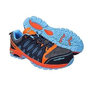 514LAyv+gzL. SS300  - Goodyear Workwear GYSHU1583 S1P/SRA/HRO Zapatillas de seguridad para hombre, ligeras, no metálicas, con puntera y entresuela de Composite, 8 UK (42 EU), multicolor, 1
