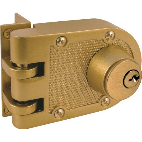 Prime-Line Products U 9972 Jimmy-Resistant Deadlock, Diecast, Brass Color, Angle Strike, Double Cylinder