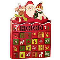 Store a fun surprise in each of the drawers on this fun little piece of Christmas decor to boost the excitement each day as it gets closer to Christmas.