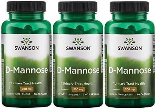 Swanson D-Mannose 700 Milligrams 60 Capsules