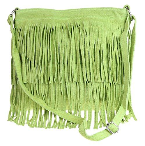 Girly HandBags - Bolso al hombro de Material Sintético para mujer verde claro