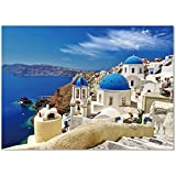 1000 Piece Puzzles, Sosirolo Jigsaw Puzzles for Adults and Teens - The Aegean sea 27.56' x 19.69'/70 x 50cm