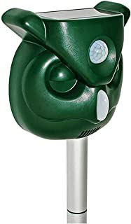 Shenlin Solar Animal Repellent, Ultrasonic Pest Repellent with Motion Sensor and Flashing Lights Outdoor Solar Powered Wat...