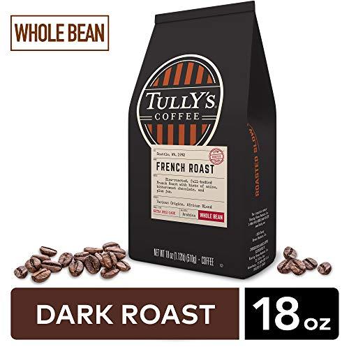 Tully's Coffee French Whole Bean Coffee, Dark Roast, 18 oz