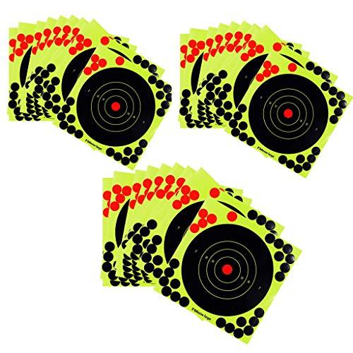 sharprepublic 30 Piezas Splatter Reactivo Autoadhesivo Disparos Objetivos - 8 Pulgadas