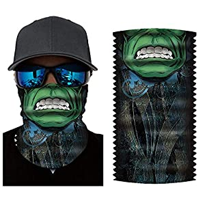 Bandana for Rave Face Mask Dust Wind UV Sun, Neck Gaiter Tube Mask Headwear, Motorcycle Face Mask for Women Men Face Scarf