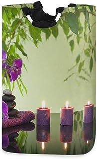 N\A 22,7 & rsquo; & rsquo; Bougies aromatiques Conception d'orchidées Panier à Linge Pliable imperméable, Panier à Linge S...