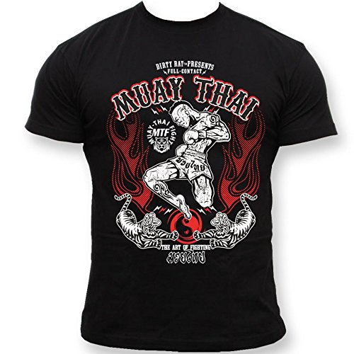 Dirty Ray Artes Marciales MMA Muay Thai camiseta hombre T-shirt K9C (M)