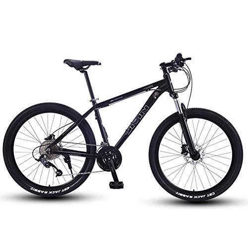 Mountain Bike 27.5 Pollici Grande Pneumatico Hardtail Mountain Biciclette, Telaio Alluminio Leggero Front Suspension Mountain Bike,Argento,27 Speed
