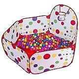 SCJ Kinder 6-Panel Playard Laufstall |Spielstall und Ballgrube Indoor Kinderspielbereich |mit Basketballkorb und bunten Bällen-150cm