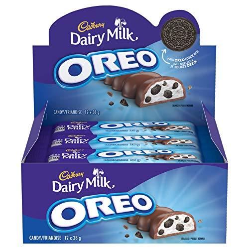 Cadbury Dairy Milk Oreo 38g, 12ct, Chocolate Bars, (Imported from Canada)