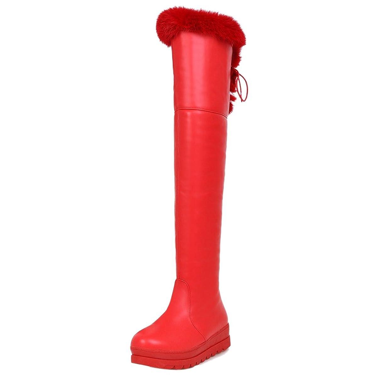 蓮あいまいさ単語RizaBina レディース ロングブーツ 厚底 防寒ブーツ 雪靴