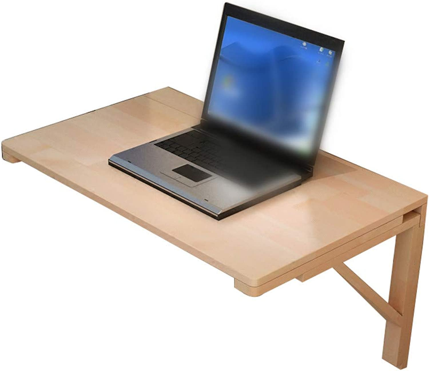 Folding Table Study Table Wooden Table Against Wall Computer Desk Desk Wall Table Foldable (Size   60  40cm)