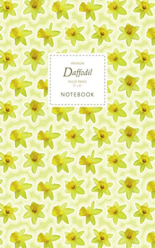 Daffodil Notebook - Ruled Pages - 5x8 - Premium: (Yellow Edition) Fun flower notebook 96 ruled/lined pages (5x8 inches / 12.7x20.3cm / Junior Legal Pad / Nearly A5)