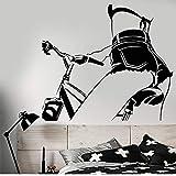 Hyllbb Vinilo Tatuajes De Pared Sexy Chica Desnuda En Bicicleta Hermoso Cuerpo Pegatinas Extraíble Mural De Arte Para El Dormitorio Sala De Estar Decoración 56 * 63 Cm