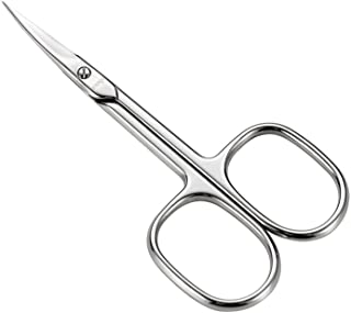 LIVINGO Premium Manicure Scissors Multi-purpose Stainless Steel Cuticle Pedicure Beauty Grooming Kit for Nail, Eyebrow, Eyelash, Dry Skin Curved Blade 3.5 inch