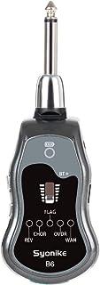ギターシステム,Syonikeギターヘッドホンアンプ Bluetooth ワイヤレス5種類ギターエフェクト アンプ内蔵充電式リチウム180度方向 歪みパフォーマンスギター/ベース用 (有線-総合器, 灰)
