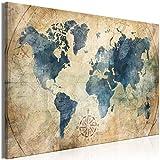 murando Cuadro Mega XXXL Mapamundi 165x110 cm Cuadro en Lienzo en Tamano XXL Estampado Grande Gigante Imagen para Montar por uno Mismo Decoración De Pared Impresión DIY Vintage k-A-0415-ak-a