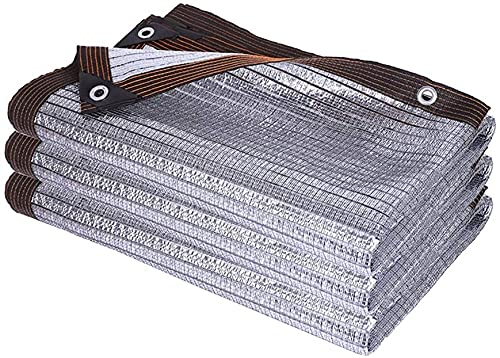 ZXCVB Sombrilla de protección Solar Papel de Aluminio Red de sombreado, Ventana de la Ventana del Techo al Aire Libre Swarf Swarf Swarf Shain Redes de sombreado (Tamaño: 3M X 7M) (Size : 4m x 4m)