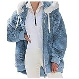 Alueeu Mujer Abrigo con Capucha 2021 Suelta Tallas Grandes Jersey Manga Larga Otoño Invierno Remata Sudadera Cálido Blusa Tops Pullover