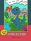 Dinosaurios: Libro de colorear para niños de 5 a 8 años. 30 dibujos de dinosaurios escenificados para colorear. Gráficos adaptados a la motricidad e imaginación de los más pequeños.