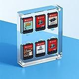 Caja de tarjeta de juego de cristal para el interruptor de Nintendo, caja de tarjetas de almacenamiento de la tarjeta de almacenamiento magnética de metal acrílico transparente adecuado para 6 juego