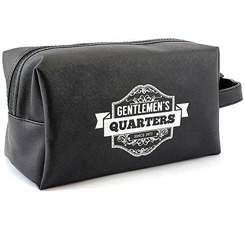 Gentleman 's WC-Tasche/Kulturbeutel Geschenk für ihn Vintage Stil mit Zitat